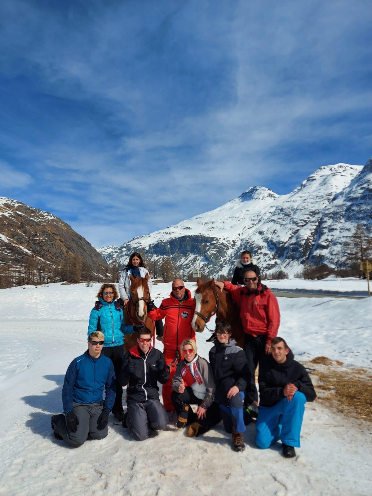 Le groupe ski Joëring avec Bob